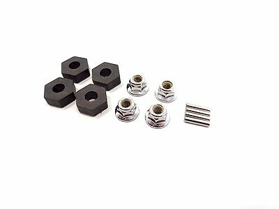 NEW TRAXXAS 14mm WHEEL HUB HEX SET WITH NUTS PINS T-MAXX E-REVO E-MAXX HEXES