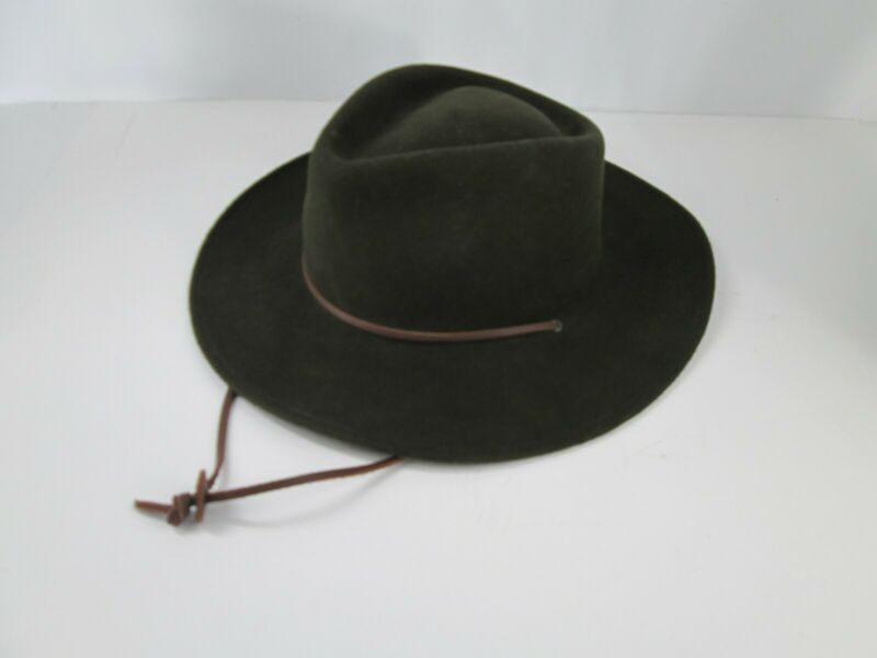 Boy Scouts BSA 100% Wool  Hat Chin Strap XL Made In USA 4384