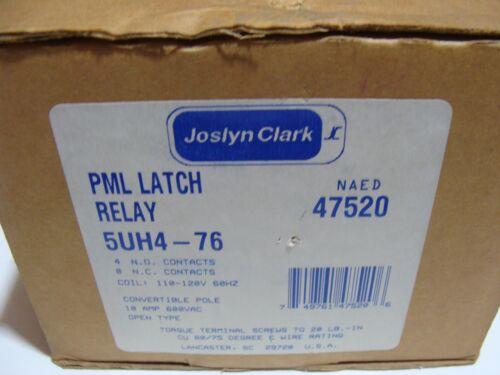 Genuine JOSLYN CLARK 5UH4-76 PML LATCH RELAY Latching 4 Pole Contactor USA