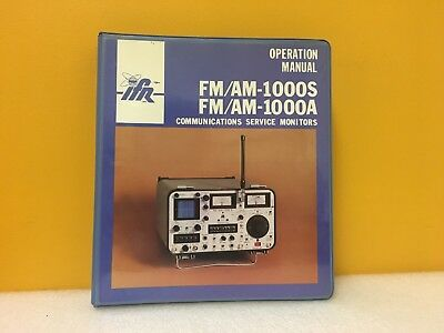 Ifr 1002-2381-200 Fmam 1000s 1000a Communications Service Monitor Op. Manual