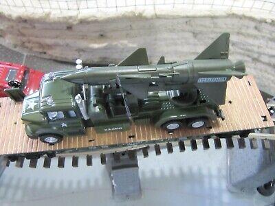 O GAUGE LIMITED EDITION ARMY FLATCAR W/ARMY TRUCK & MISSILE LIONEL MTH MENARDS