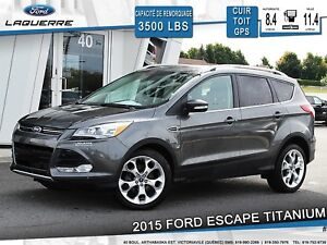 2015 Ford Escape TITANIUM**AWD*CUIR*TOIT*GPS*CAMERA* HITCH**