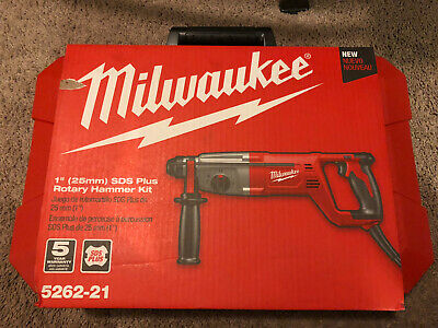 Milwaukee 5262-21 8 Amp Corded 1 In. Sds Plus Rotary Hammer Kit New