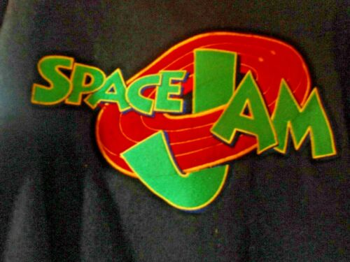 VTG Space Jam Varsity Style Jacket Looney Tunes Jerry Leigh Wool Leather USA LG