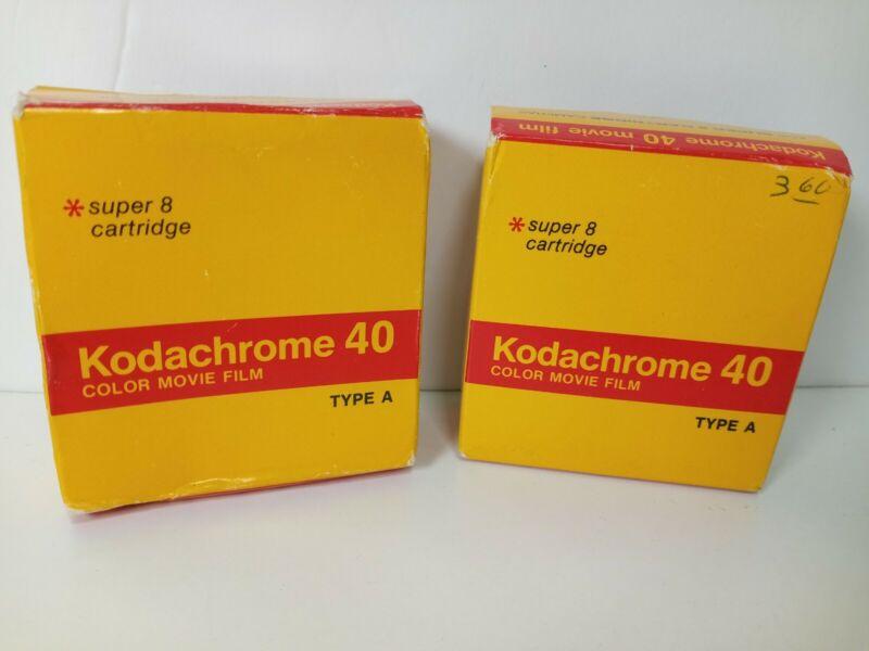 2 Sealed Boxes Kodachrome Movie Film 40 Super 8 Cartridge KMA 464 50 ft May 79