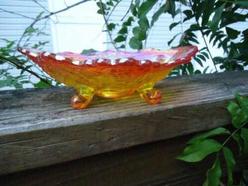Carnival Glass Contemporary Grape and Cable Mini Flared Banana Boat