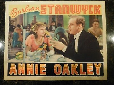 """Used, ANNIE OAKLEY Original 1935 Lobby Card, 11"""" x 14"""", C7.5 Very Fine Minus for sale  Shipping to India"""