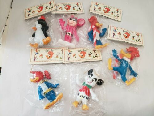 Vintage 1979 Set of 6 Walter Lantz Character Ornaments - New - see note