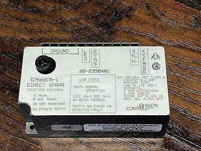 New Johnson Controls 62-2358401 Direct Spark Ignition Control G766bca-1 Nos