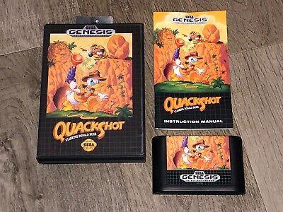 Quackshot Starring Donald Duck Sega Genesis Complete CIB Near Mint Authentic comprar usado  Enviando para Brazil