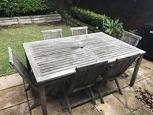 Wooden Garden Table and 6 Chairs North Bondi Eastern Suburbs Preview