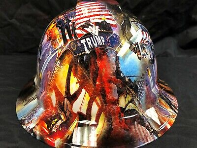 New Full Brim Hard Hat Custom Hydro Dipped President Trump Maga. Free Shipping