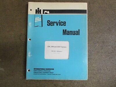 International Harvester 234 244 254 Tractor Service Repair Manual