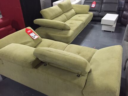 Lime Green Fabric 2 and 3 Seat sofa - By NS Dandenong South Greater Dandenong Preview
