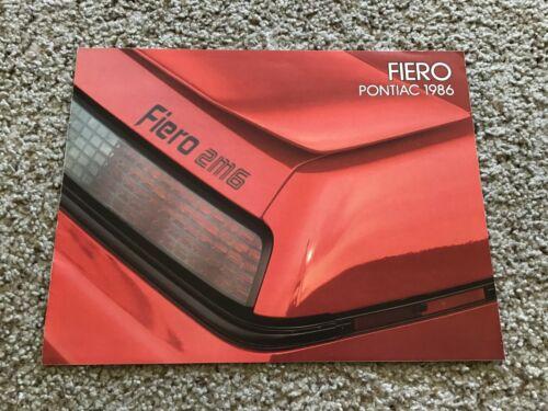 1986  Pontiac Fiero from Canada,  original sales literature.
