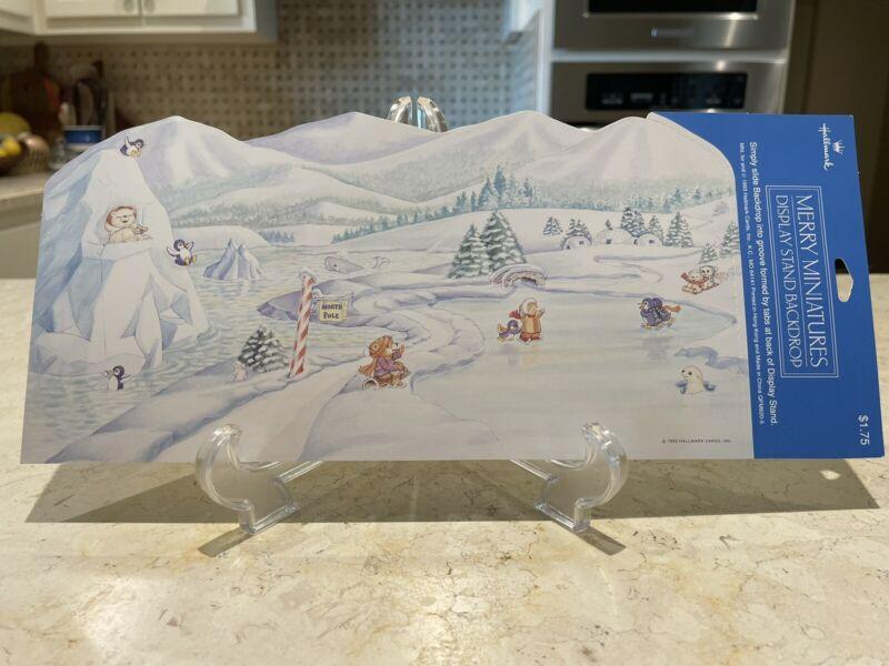 Hallmark Merry Miniatures Winter Backdrop, Background, 1993, NWT