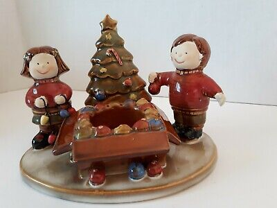 Yankee Candle Co. Kids Decorating Christmas Tree Votive Holder Ronnie Walker