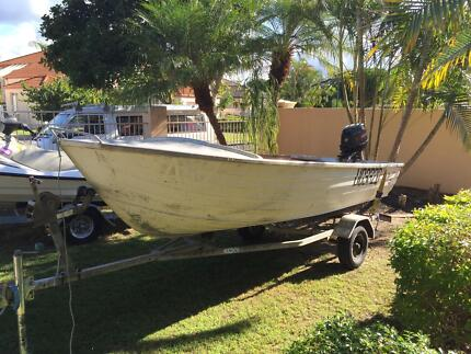Open Dinghy Runabout on Trailer with 20HP Outboard Motor Helensvale Gold Coast North Preview