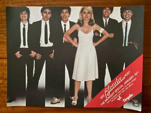 "BLONDIE Vintage 9"" x 12"" 1979 Chrysalis ""Parallel Lines"" Midnight Special Promo"