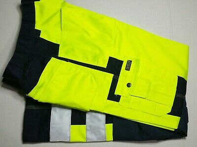 Blaklader 1533 hi vis safety work cordura knee pants trousers yellow 36 C52