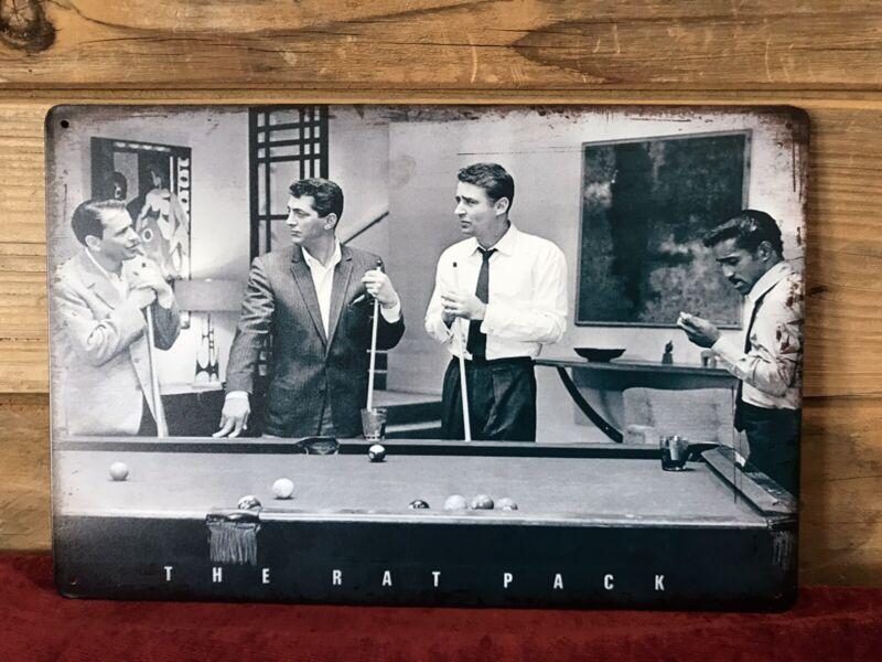 "The Rat Pack - Pool Photo Tin Metal sign 8""X12"" Man-Cave Décor Sammy Sinatra"