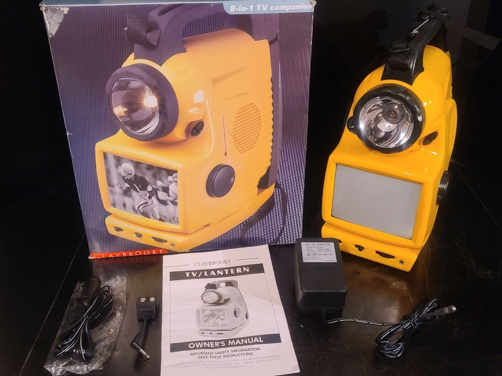 TESTED GOOD CLAYBROOKE PORTABLE 8 IN 1 TV companion hunting