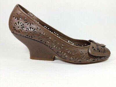 Moda In Pelle Brown Leather Mid Kitten Heel Shoes Uk 8 Eu 41