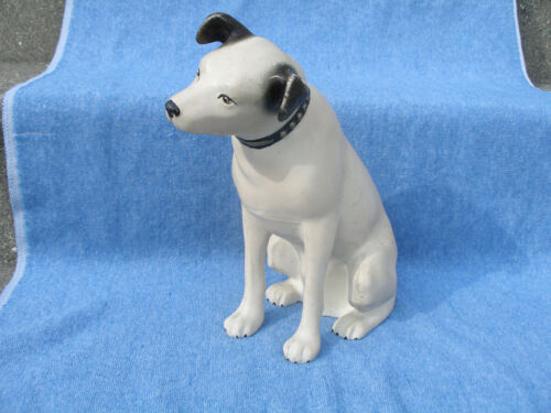 """Vintage 10 1/2"""" Tall Plastic RCA Victor Nipper Dog Advertising Store Display"""