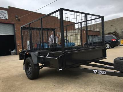 8x5 Cage Trailer with Drop down ramp