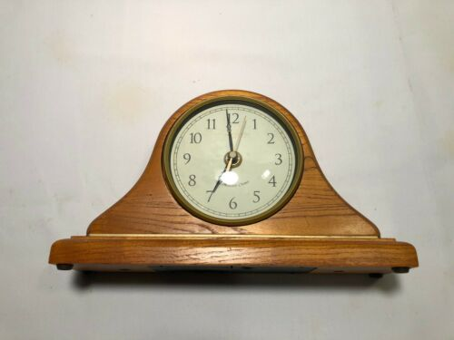 Wooden Mantle Clock - Battery Operated Westminster Chime