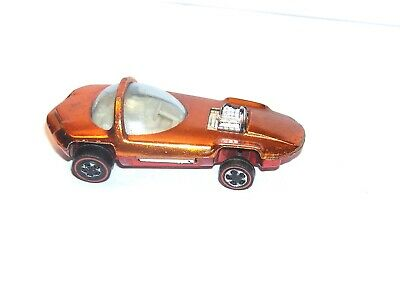 1968 Hot Wheels Redline Silhouette US ORANGE SUPER SHINY YR1 ORIGINAL CONCEPT!