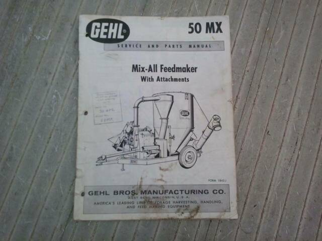 Gehl Mix All Service Amp Parts Manual Other Books Music