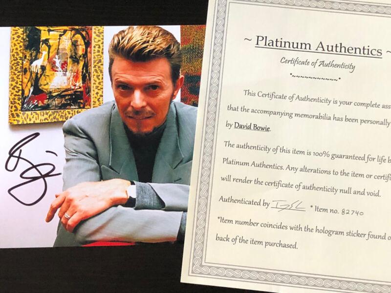 David Bowie autographed 8x10 photo signed, authentic, singer COA