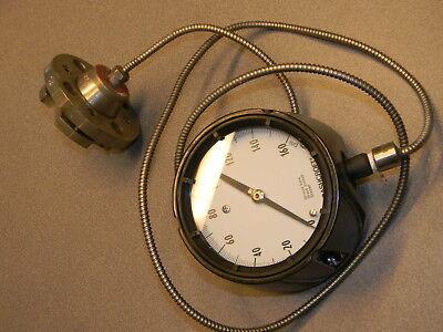 Ashcroft Q-586 Pressure Gauge 0-160 Psi W Type 100 Flanged Diaphragm Seal
