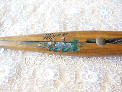 Antique Hand-Painted Wooden Glove Stretcher