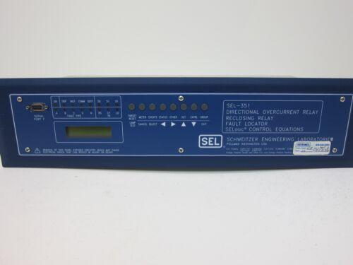 Schweitzer (SEL) Directional Reclosing/Overcurrent Relay SEL-351 03511T42533243X