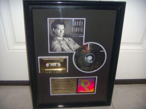 RANDY TRAVIS  - GREATEST HITS VOL 1 -  RIAA THE SALE MORE 500.000 COPIES Award