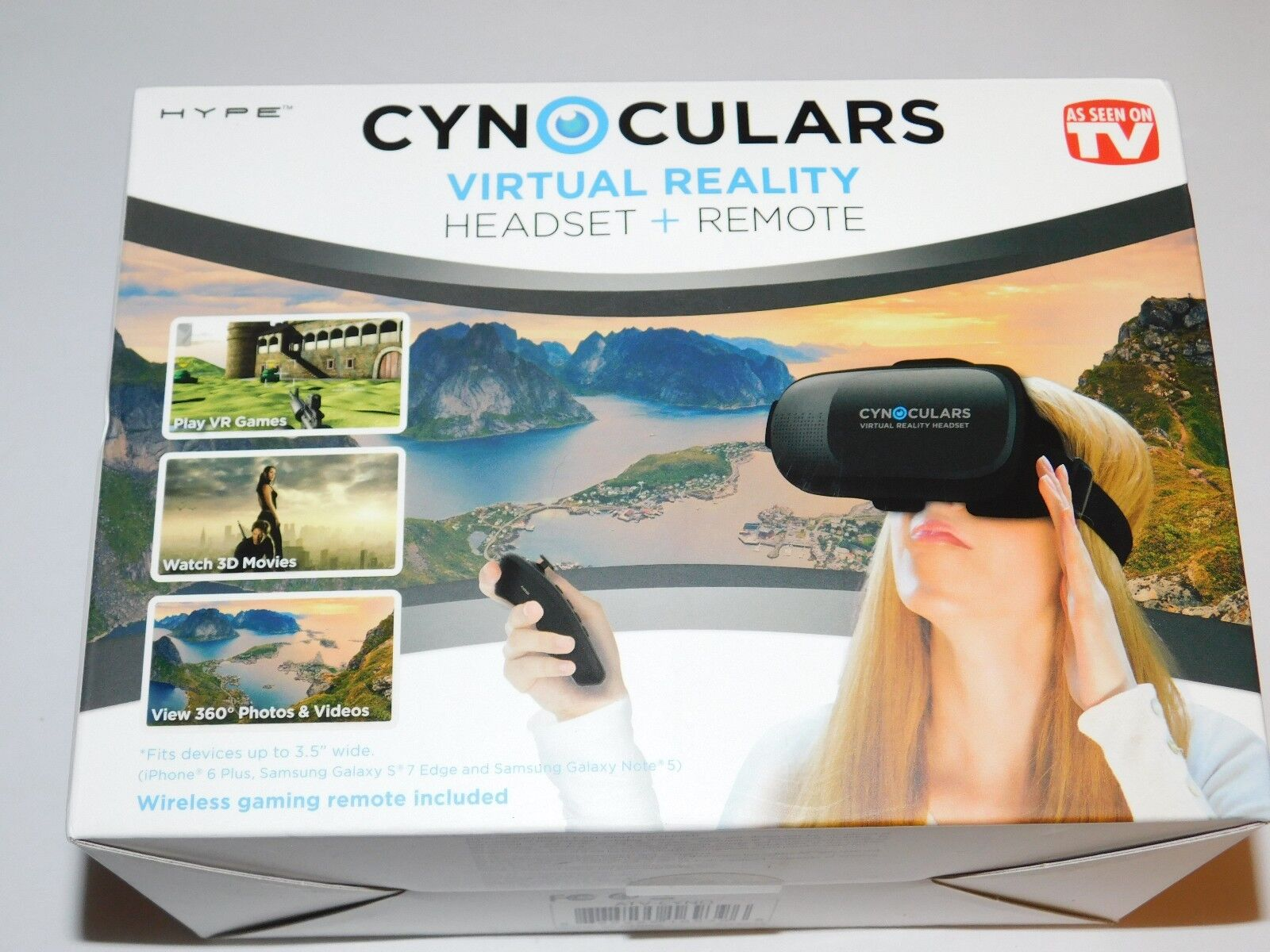 Cynoculars Virtual Reality Headset & Remote As Seen On TV