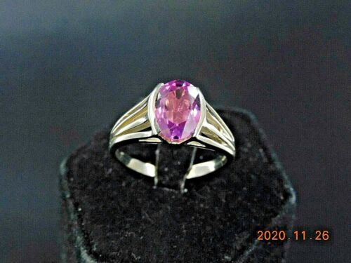 18K WHITE GOLD RING WITH PINK TOURMALINE                                NR