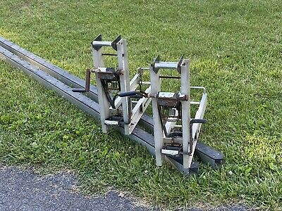 Serious Offers Only-you Must Pick Up-24 Pair Aluminum Pump Jacks Poles Braces