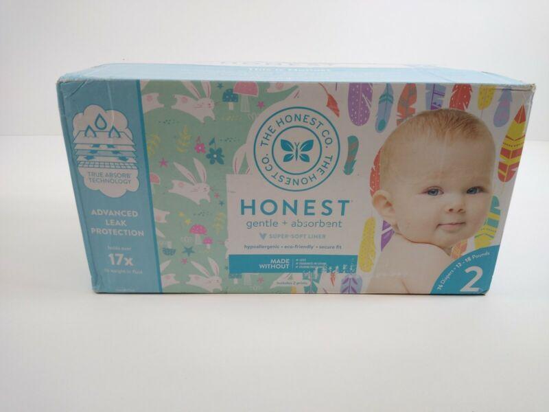 The Honest Company Diapers Size 2 Hypoallergenic Secure Fit - 76 Count
