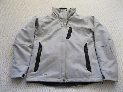 Columbia Annie Frost Titanium OmniTech WP Winter Ski Jacket Gray Black Women Med