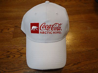 COCA-COLA ARTIC HOME Official Soft Drink Of NASCAR White Ball Hat NWT