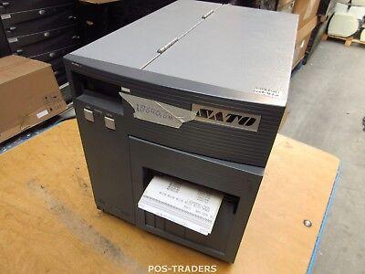 """SATO CL408E Parallel Thermo Label Drucker REWINDER 203dpi 4.1"""" 104mm - 18640.6 M"""
