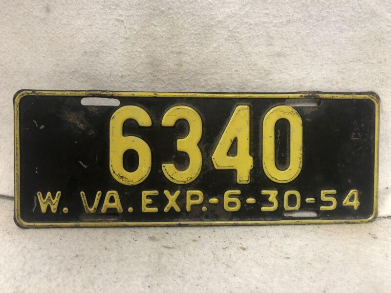 Vintage 1954 West Virginia License Plate