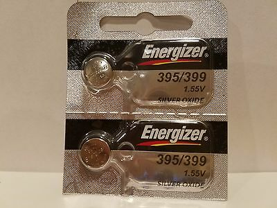 2 FRESH Energizer 395 399 (SR927SW) (SR927W) Silver Oxide Watch Batteries USA