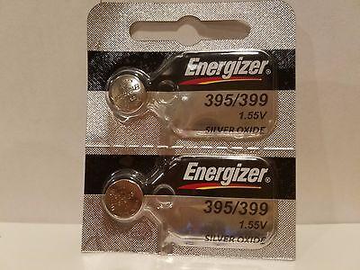2 FRESH Energizer 395 399 (SR927SW) (SR927W) Silver Oxide Watch Batteries USA