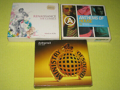 Anthems of House MOS Anthems II & Renaissance The Classics 3 Albums 9 CDs Dance