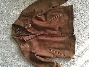 Emporio Armani Brown Suede jacket