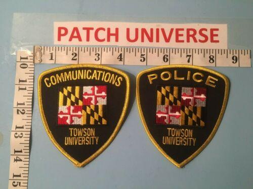 LOT OF 2 DIFFERENT TOWSON UNIVERSITY  SHOULDER PATCHES    J115